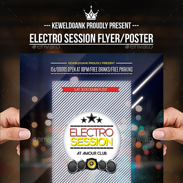 Electro Session Flyer / Poster