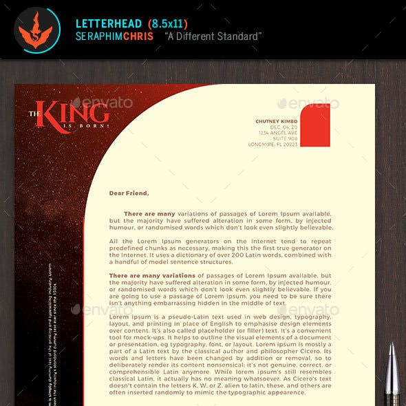 The King Is Born Church Letterhead Template