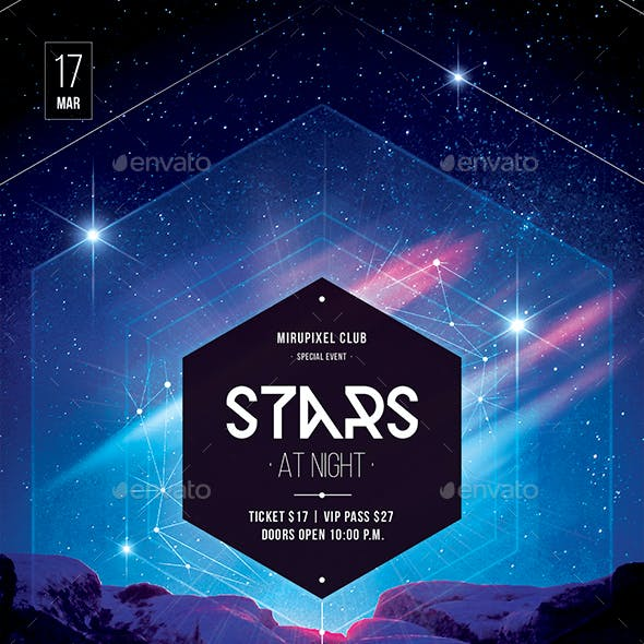Club Flyer: Stars at Night