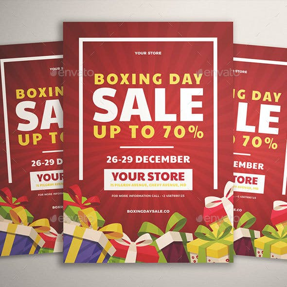 Boxing Day Sale Flyer Vol. 01
