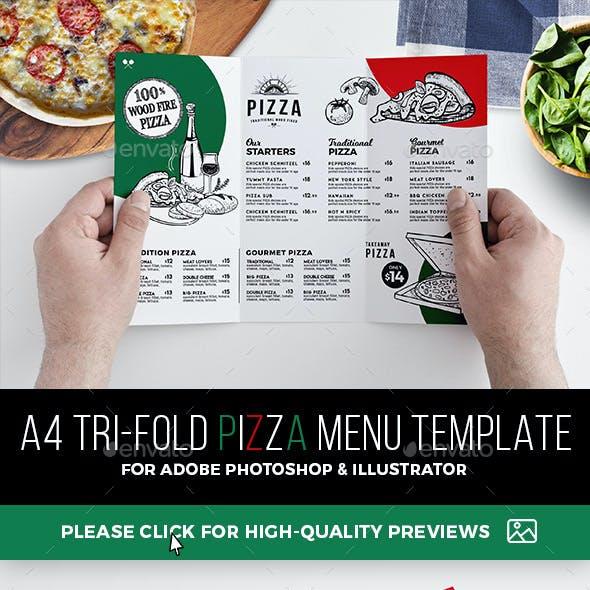 Tri-Fold Pizza Menu Template