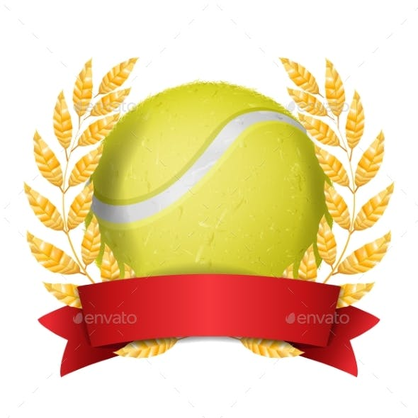 Tennis Award Vector. Sport Banner Background
