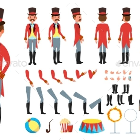 Circus Trainer Vector Animated Character Creation