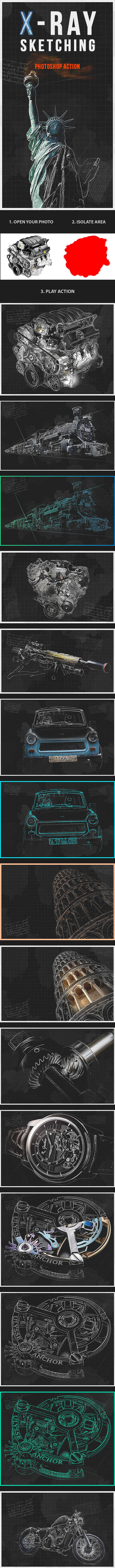 X-Ray Sketching - Photo Effects Actions