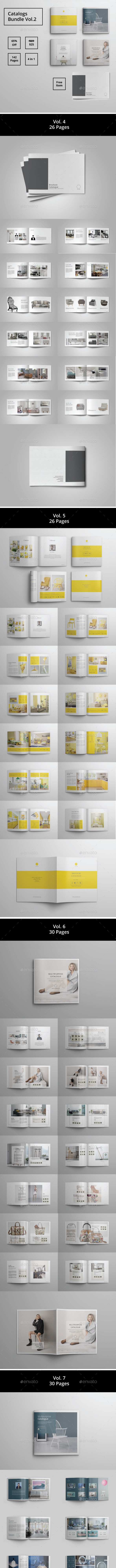 Multipurpose Brochure Catalogue Bundle Vol. 2 - Catalogs Brochures