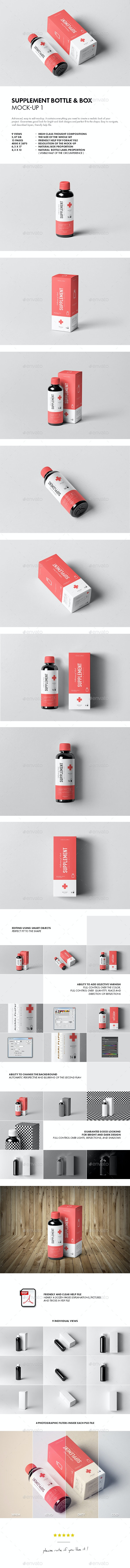 Supplement Bottle & Box Mock-up 1 - Miscellaneous Packaging