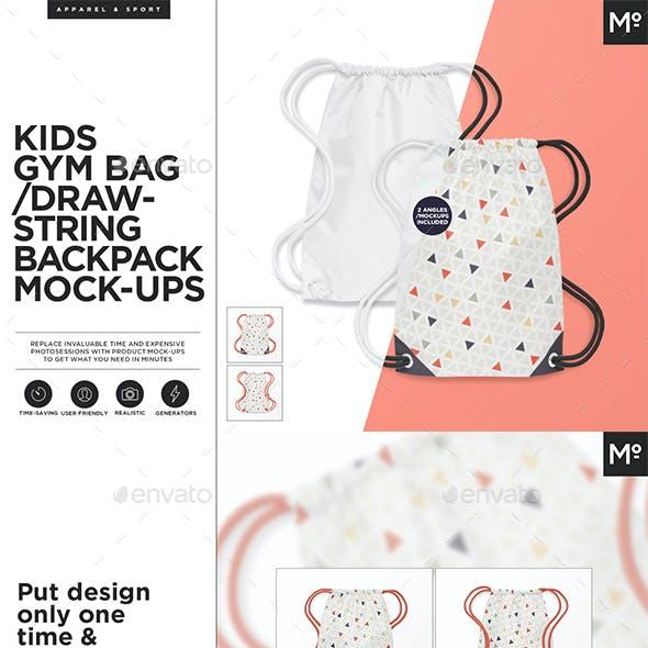 Kids Gym Bag Mock-up