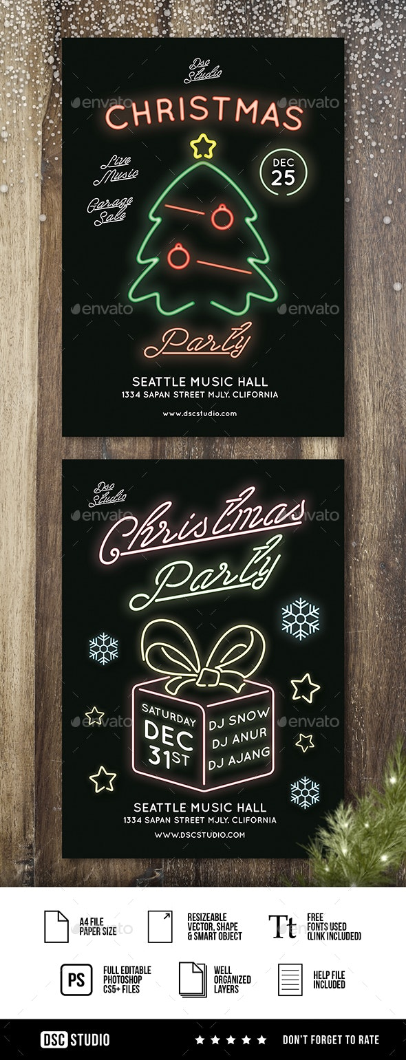 Glow Christmas Party - Clubs & Parties Events