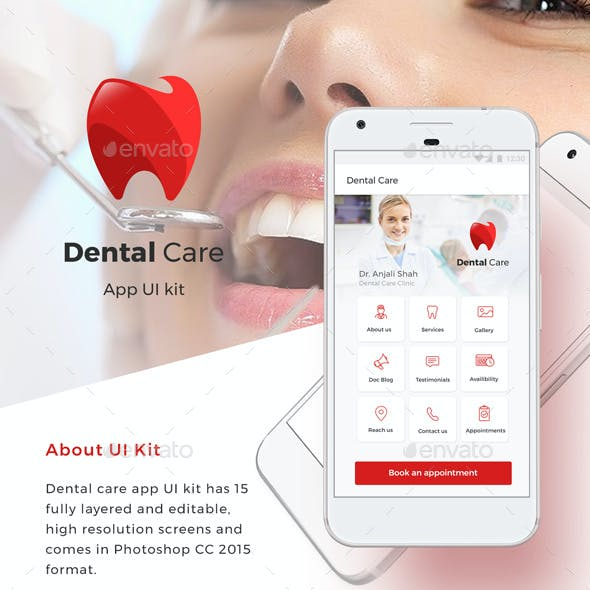 Dentist and other Doctors Appointment App UI Set | Android + iOS