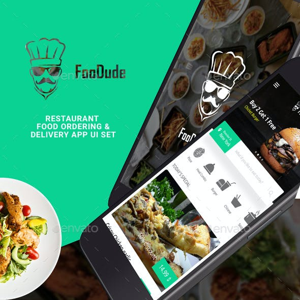 Food Delivery App Graphics, Designs & Templates