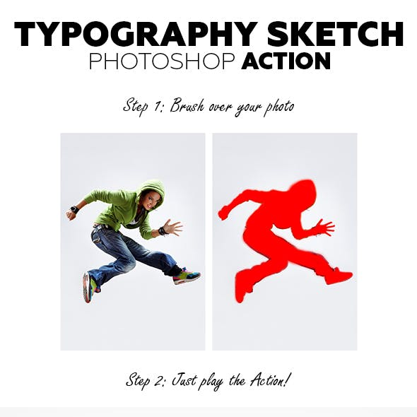 Typography Sketch Photoshop Action