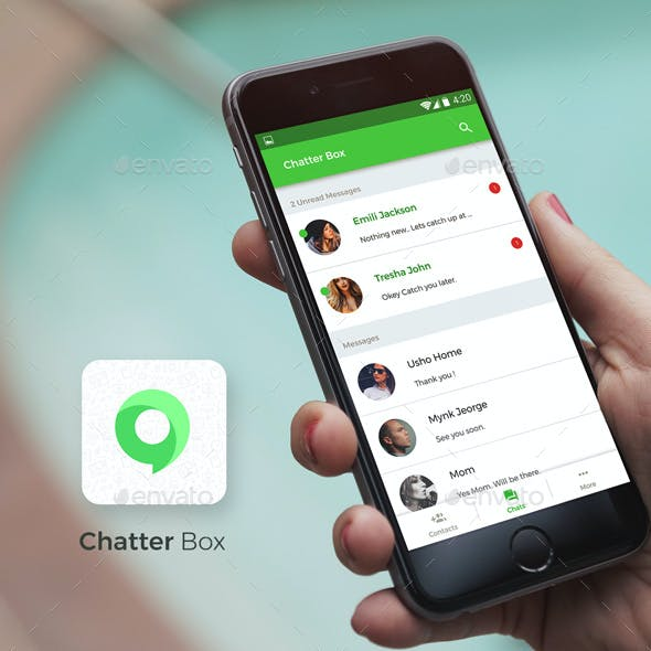 Chatting App for Android + iOS | Chatter Box