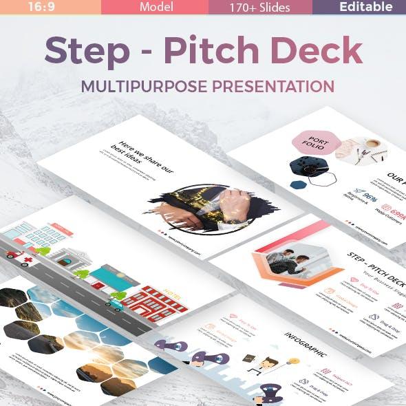Step Pitch Deck Multipurpose Keynote Template