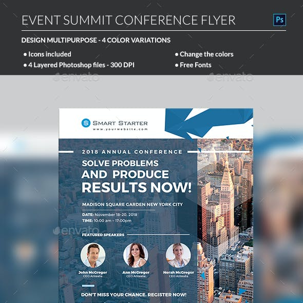Event Summit Conference Flyer