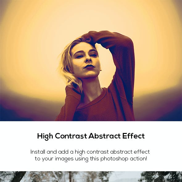 High Contrast Abstract Effect