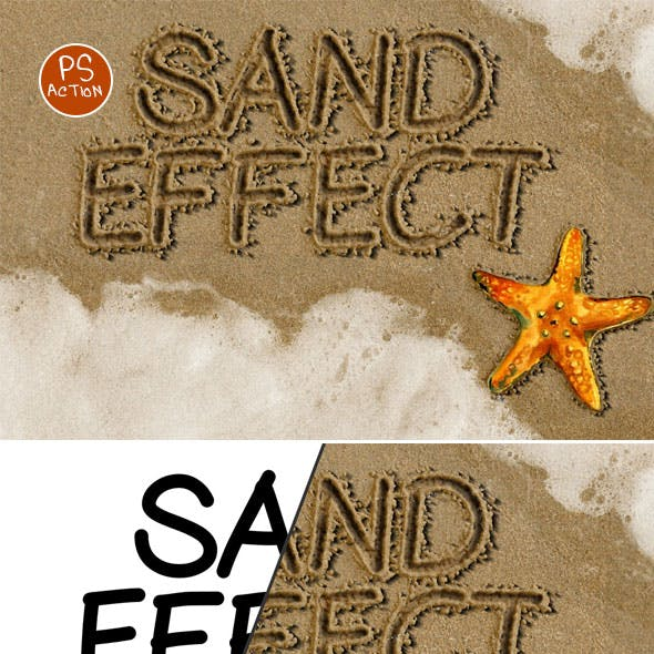 Sand Writing Photoshop Action