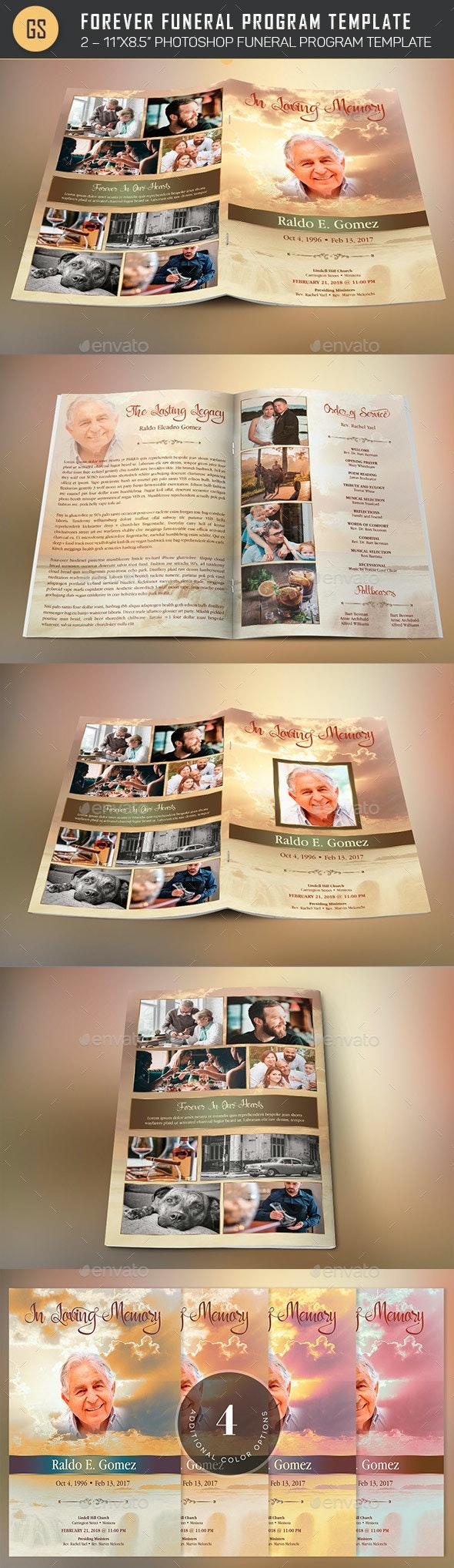 Forever Funeral Program Template - Informational Brochures