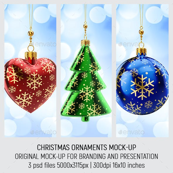 Christmas Ornaments Mock-up