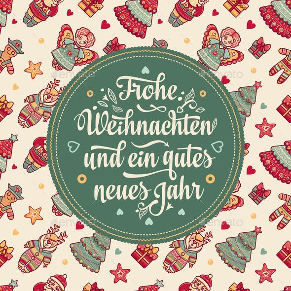Frohe Weihnacht  Xmas Congratulations in Germany