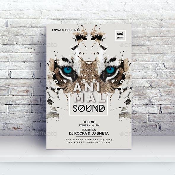 Animal Sound Flyer Template