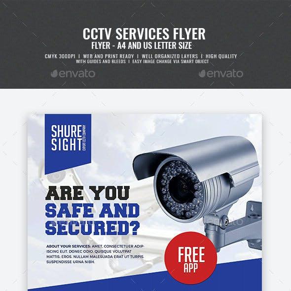 CCTV Shop and Installation Service Flyer
