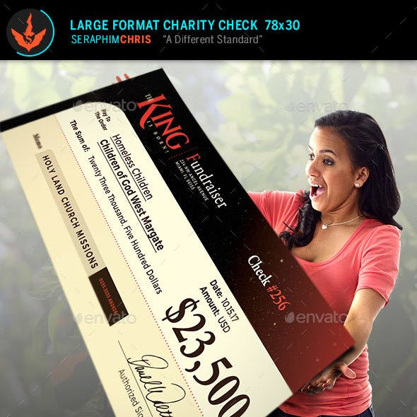 The King Is Born Large Format Charity Check Template