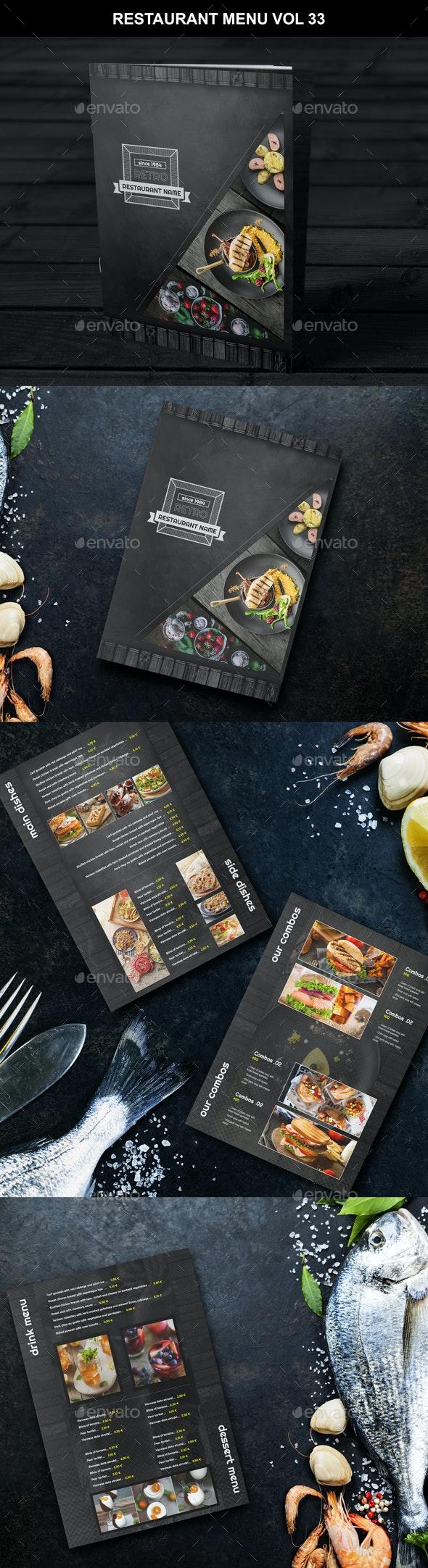 Restaurant Menu Vol 33