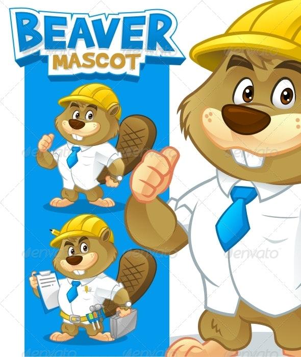 Beaver Mascot - Animals Characters