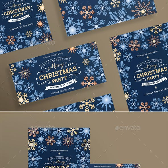 Merry Christmas Party Flyers
