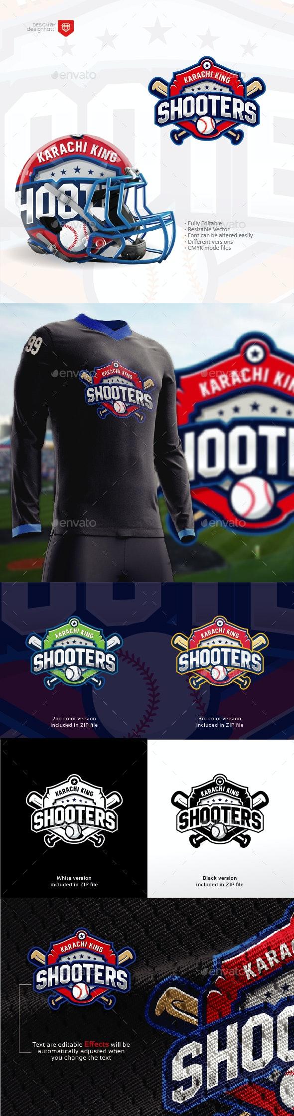 Shooters - Baseball Team Logo - Baseball Sports