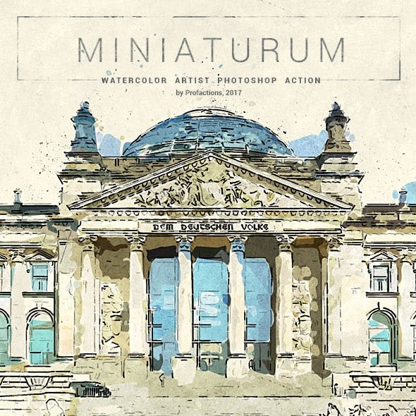 Miniaturum - Watercolor Sketch Photoshop Action
