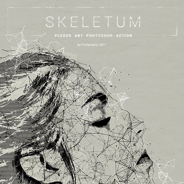 Plexus Art - Skeletum - Photoshop Action