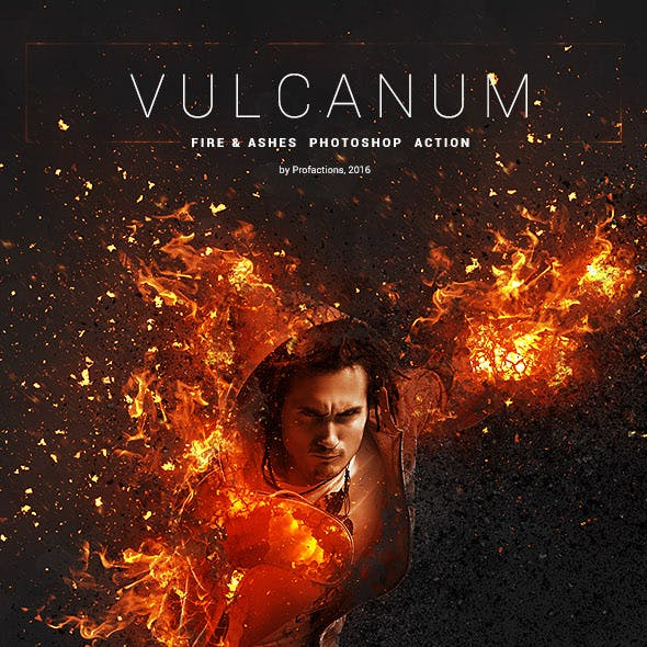 Vulcanum - Fire & Ashes Photoshop Action