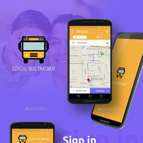 Bus Tracking Mobile App UI