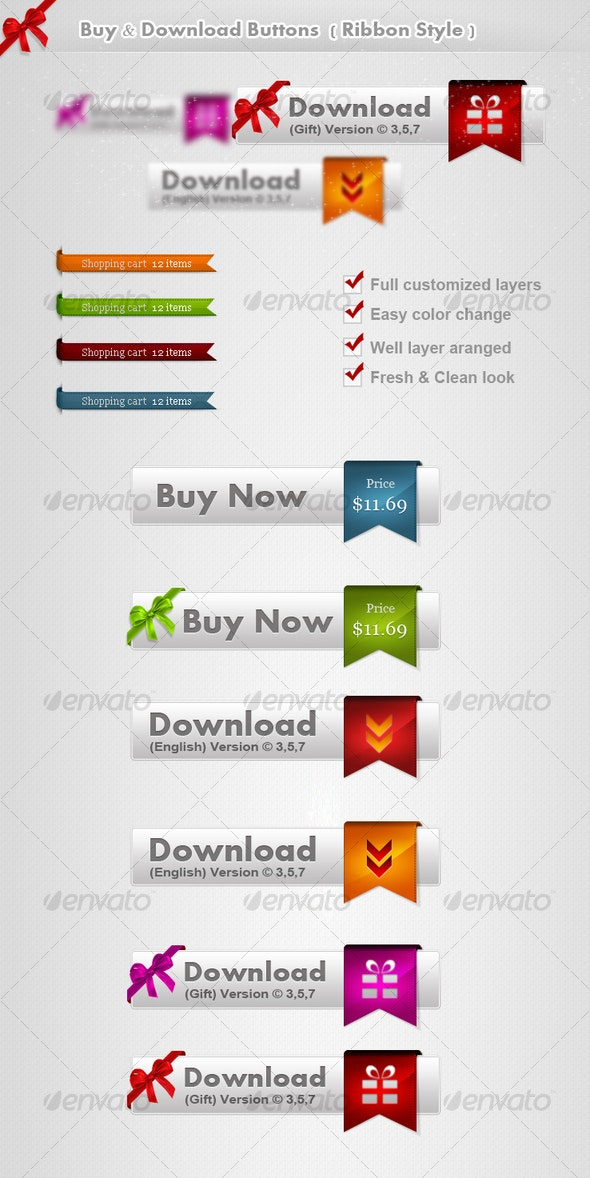 Buy & Download Buttons part 2 - Buttons Web Elements