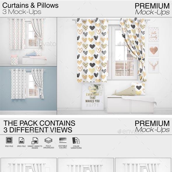 Curtains & Pillows Set