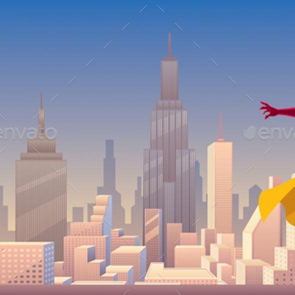 Superheroine Power in City