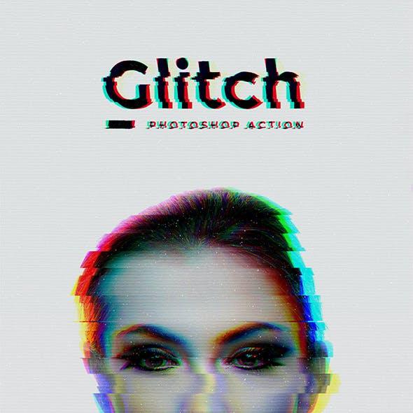 Glitch Photoshop Action