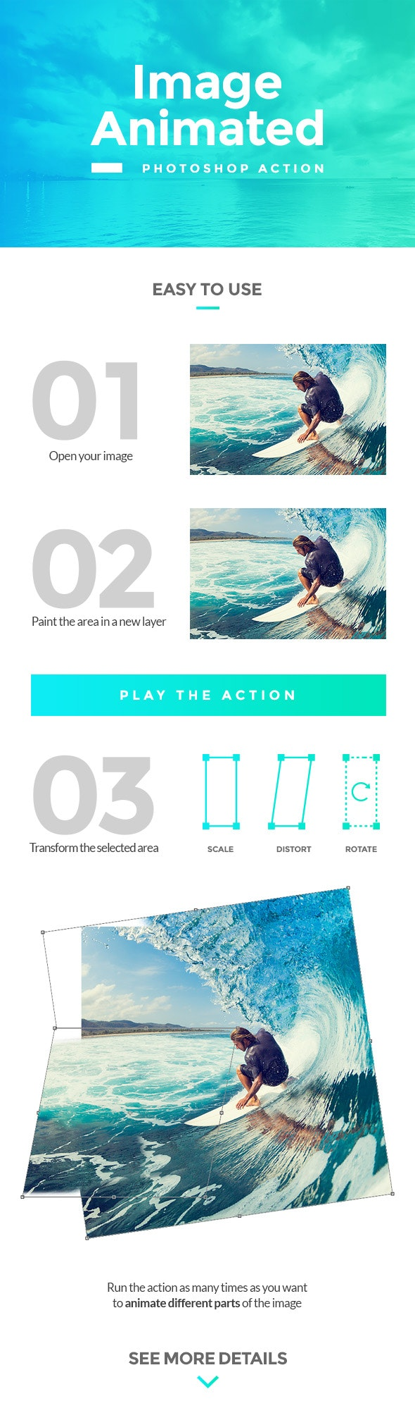 Image Animated Photoshop Action - Photo Effects Actions