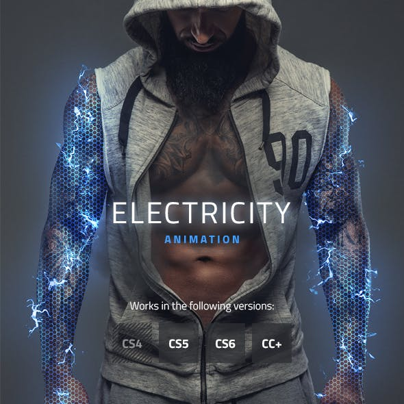 Electricity Animated Photoshop Action