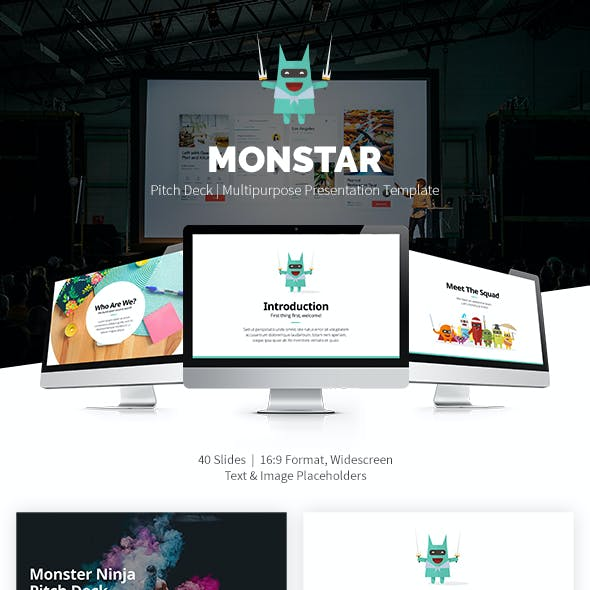 Monstar Powerpoint Pitch Deck Template