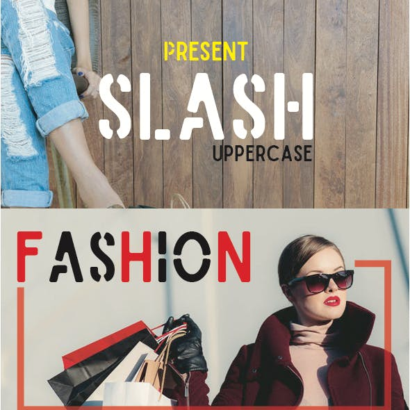 Slash Uppercase font
