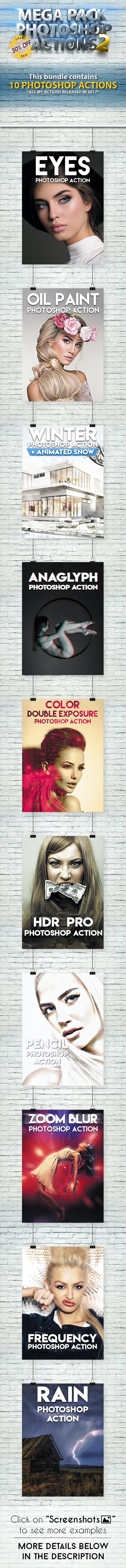 Mega Pack 2 Photoshop Actions Bundle - Photo Effects Actions