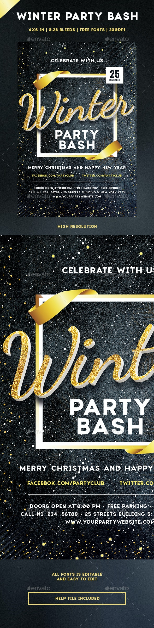 Winter Party Bash - Holidays Events