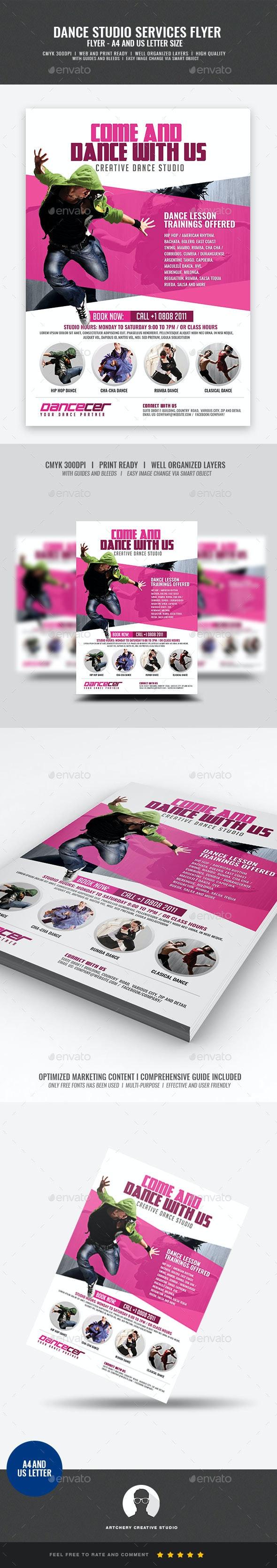 Dance Studio Promotion - Flyers Print Templates