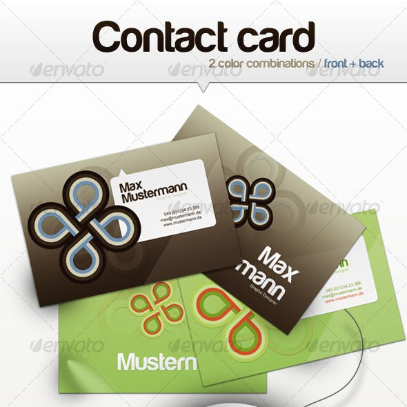 Graphic Command Contact Card