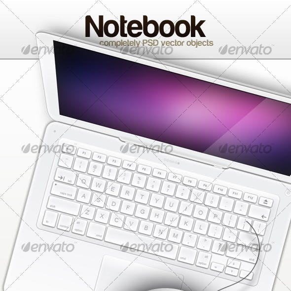 White Notebook (Top View)