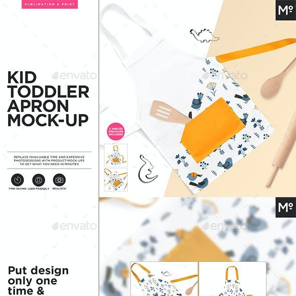 Kid Toddler Apron Mock-up s Generator