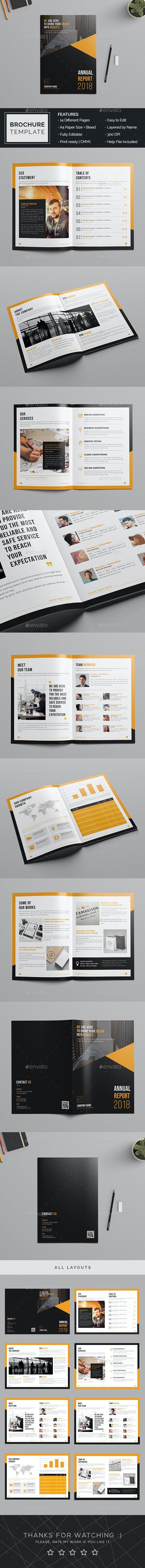 Annual Report Brochure Template - Brochures Print Templates