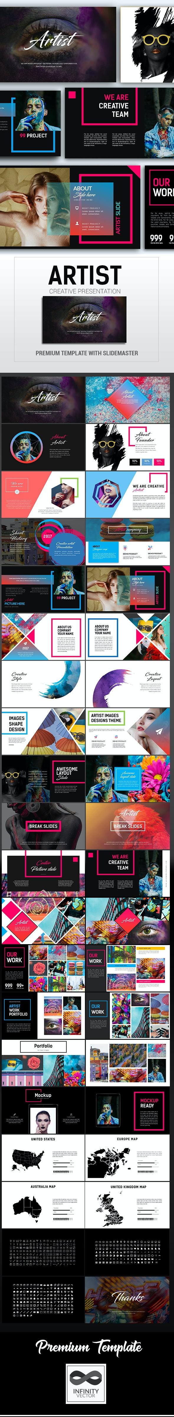 Artist Creative Presentation - PowerPoint Templates Presentation Templates